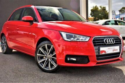 2016 Audi A1 8X MY17 Sport Sportback S tronic Red 7 Speed Sports Automatic Dual Clutch Hatchback