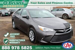 2015 Toyota Camry LE w/Mfg Warranty and Accident Free