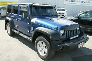 2010 Jeep Wrangler JK MY2010 Unlimited Sport Blue 6 Speed Manual Softtop Bungalow Cairns City Preview