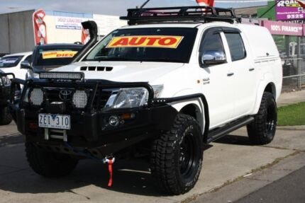 2012 Toyota Hilux KUN26R MY12 SR Double Cab White 4 Speed Automatic Utility Altona North Hobsons Bay Area Preview
