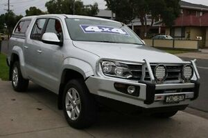 2012 Volkswagen Amarok 2H MY12 TDI400 4Mot Trendline Silver 6 Speed Manual Utility Altona North Hobsons Bay Area Preview