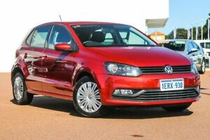 2015 Volkswagen Polo 6R MY15 66TSI Trendline Red 5 Speed Manual Hatchback Rockingham Rockingham Area Preview