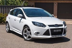 2014 Ford Focus LW MKII Titanium PwrShift White 6 Speed Sports Automatic Dual Clutch Hatchback Greenacre Bankstown Area Preview