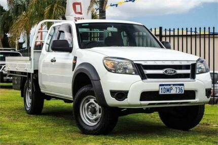 2010 Ford Ranger PK XL Super Cab 4x2 Hi-Rider White 5 Speed Manual Cab Chassis Wangara Wanneroo Area Preview