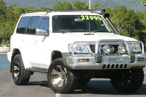 2005 Nissan Patrol GU IV MY05 ST-L White 4 Speed Automatic Wagon Bungalow Cairns City Preview