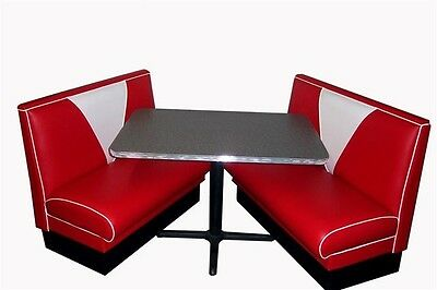 New 57 Chevy V Back Diner Booth Set Restaurant Cafe