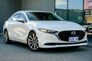 2019 Mazda 3 BP2S7A G20 SKYACTIV-Drive Evolve White 6 Speed Sports Automatic Sedan Osborne Park Stirling Area Preview