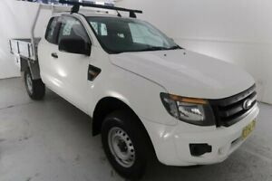 2013 Ford Ranger PX XL Hi-Rider White 6 Speed Sports Automatic Cab Chassis Hamilton North Newcastle Area Preview