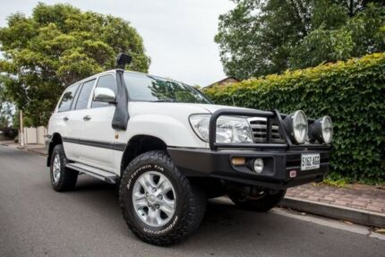 2006 Toyota Landcruiser HDJ100R GXL White 5 Speed Manual Wagon Hove Holdfast Bay Preview