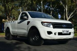 2012 Ford Ranger PX XL 4x2 White 6 Speed Manual Cab Chassis St Marys Mitcham Area Preview