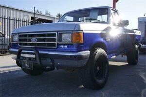 1987 Ford F150 (4x4) Silver & Blue 4 Speed Manual 4x4 Utility