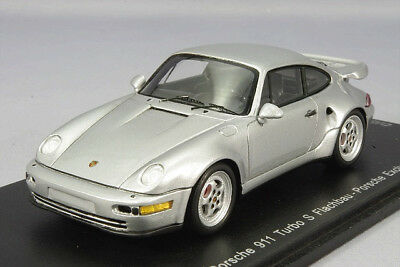 Spark 1:43 Porsche 911 (964) Turbo S Flachbau Silver from Japan