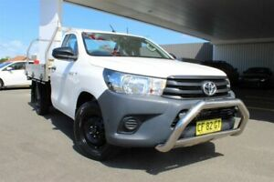 2015 Toyota Hilux TGN121R Workmate Glacier White 6 Speed Automatic Cab Chassis Belmore Canterbury Area Preview