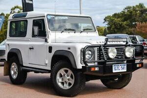 2013 Land Rover Defender 90 13MY White 6 Speed Manual Wagon Wangara Wanneroo Area Preview