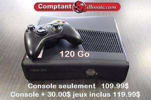 CONSOLE XBOX360 120G KE92541 Comptant illimite