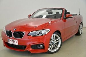 2015 BMW 228I F23 M Sport Red 8 Speed Sports Automatic Convertible Mansfield Brisbane South East Preview