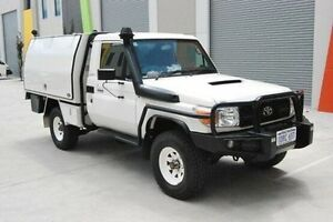 2011 Toyota Landcruiser VDJ79R MY10 Workmate White 5 Speed Manual Cab Chassis Kenwick Gosnells Area Preview