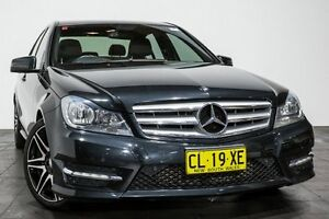 2012 Mercedes-Benz C250 W204 MY12 BlueEFFICIENCY 7G-Tronic + Avantgarde Black 7 Speed Rozelle Leichhardt Area Preview