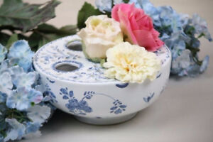 MOTTAHEDEH Portugal Blue & White Ceramic Crocus Pot