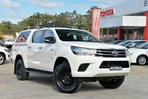 2015 Toyota Hilux GUN126R SR (4x4) White 6 Speed Manual Dual Cab Utility Wyoming Gosford Area Preview