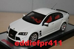 1/43 2008 HOLDEN HSV W427 IN HERON WHITE BIANTE MODEL CARS LIMITED EDITION RESIN
