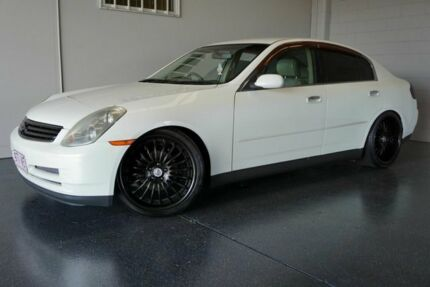 2001 Nissan Skyline V35 250GT White 4 Speed Automatic Sedan
