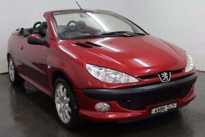 2002 Peugeot 206 T1 CC Red Manual Cabriolet Cabramatta Fairfield Area Preview