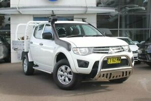 2013 Mitsubishi Triton MN MY14 GLX Double Cab White 4 Speed Sports Automatic Utility Sutherland Sutherland Area Preview