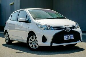 2016 Toyota Yaris NCP130R Ascent White 4 Speed Automatic Hatchback Osborne Park Stirling Area Preview
