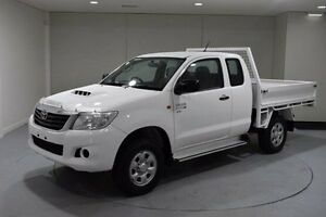 2013 Toyota Hilux KUN26R MY12 SR Xtra Cab White 5 Speed Manual Cab Chassis South Launceston Launceston Area Preview