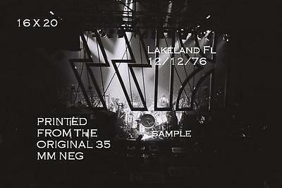 Kiss 1976 Behind The Logo 16 X 20 Photo Lakeland,FL Shock Me