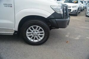 2012 Toyota Hilux KUN26R MY12 SR5 Double Cab White 4 Speed Automatic Utility Bayswater Bayswater Area Preview