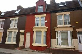 Move in with £100 and deposit on 4 Bedroom mid three storey terrace property located in Anfield