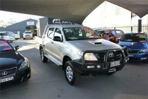 2010 Toyota Hilux KUN26R 09 Upgrade SR (4x4) Silver 5 Speed Manual Dual Cab Chassis Mitchell Gungahlin Area Preview