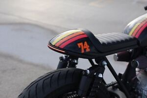 Custom motorcycle Rear Loop with embedded led Cremorne Yarra Area Preview