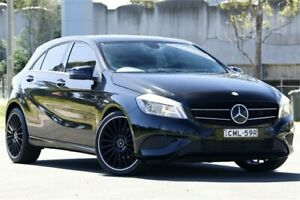 2013 Mercedes-Benz A180 176 BE Black 7 Speed Automatic Hatchback