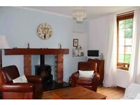 Beautiful, large, furnished 2 bed cottage close to St Andrews and Dundee for 9 mth let