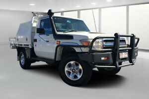 2013 Toyota Landcruiser VDJ79R MY12 Update GXL (4x4) French Vanilla 5 Speed Manual Cab Chassis Dalby Dalby Area Preview