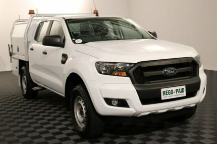 2017 Ford Ranger PX MkII XL Hi-Rider Cool White 6 Speed Sports Automatic Cab Chassis Acacia Ridge Brisbane South West Preview