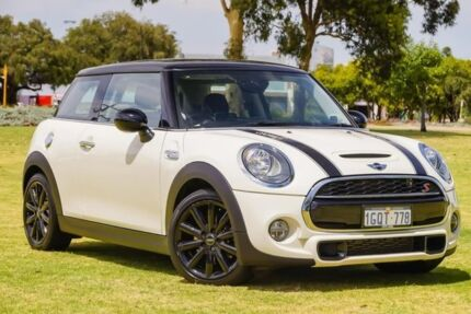 2015 Mini Hatch F56 Cooper S White 6 Speed Automatic Hatchback Burswood Victoria Park Area Preview