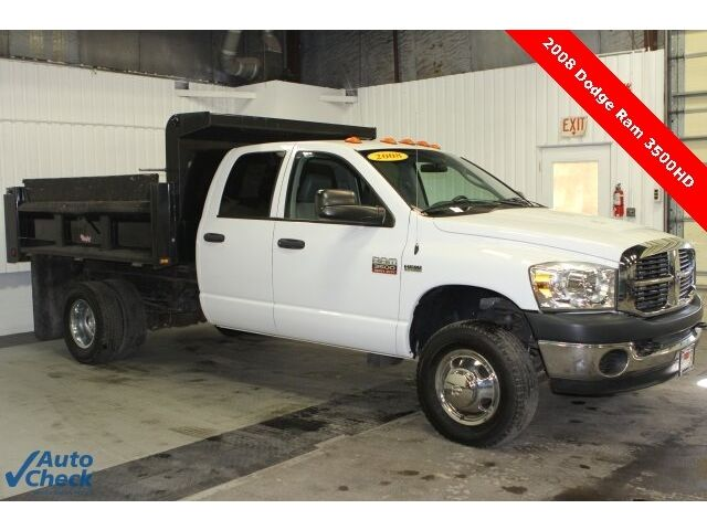 Used 2008 Ram 3500 One Owner 4X4, Dump Body Ready for Work. 4D Quad Cab, Dually