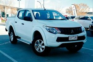2018 Mitsubishi Triton MQ MY18 GLX+ Double Cab White 5 Speed Sports Automatic Utility Strathmore Heights Moonee Valley Preview