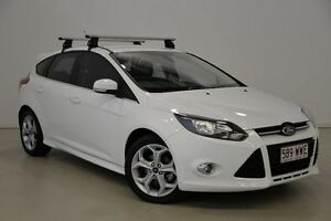 2012 Ford Focus LW MKII Sport PwrShift White 6 Speed Sports Automatic Dual Clutch Hatchback Mansfield Brisbane South East Preview