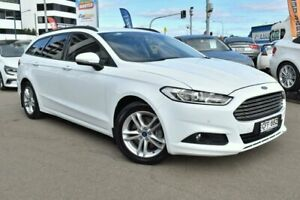 2016 Ford Mondeo MD Ambiente Winter White 6 Speed Sports Automatic Dual Clutch Wagon Campbelltown Campbelltown Area Preview
