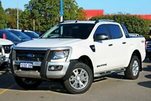 2012 Ford Ranger PX Wildtrak Double Cab White 6 Speed Sports Automatic Utility Midland Swan Area Preview