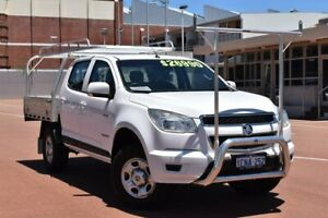 2014 Holden Colorado RG MY14 LX Crew Cab 4x2 White 6 Speed Sports Automatic Cab Chassis Fremantle Fremantle Area Preview