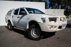 2013 Mitsubishi Triton MN MY13 GLX Double Cab White 5 Speed Manual Utility Maddington Gosnells Area Preview