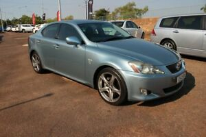 2008 Lexus IS250 GSE20R IS250 X Light Blue 6 Speed Automatic Sedan The Gardens Darwin City Preview