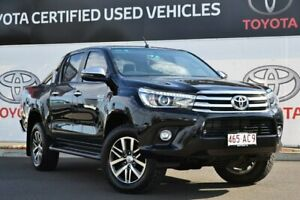 2018 Toyota Hilux GUN126R MY17 SR5+ (4x4) Eclipse Black 6 Speed Manual Dual Cab Utility Warwick Southern Downs Preview