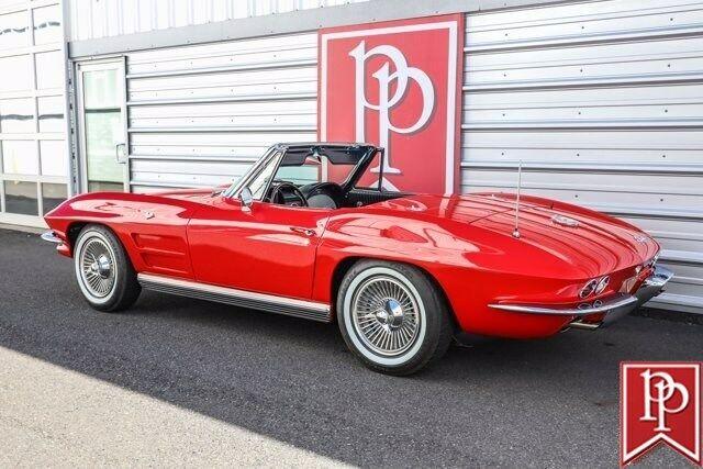 1964 Red Chevrolet Corvette Convertible    C2 Corvette Photo 8